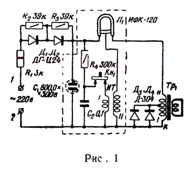 Схема импульсной установки для
